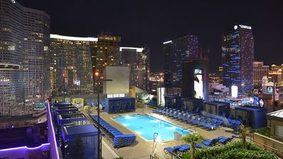 Photo for 2 Bedroom Suite on THE STRIP, Free Parking and WiFi, No Resort Fees, Non-Smoking