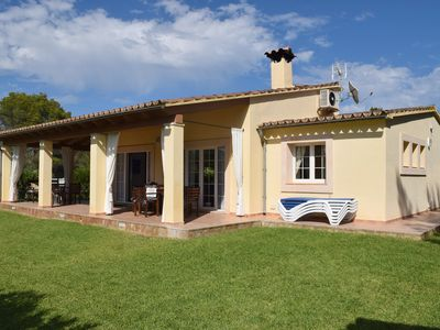 Photo for With Beautiful Veranda and Community Pool - Finca Can Lluís