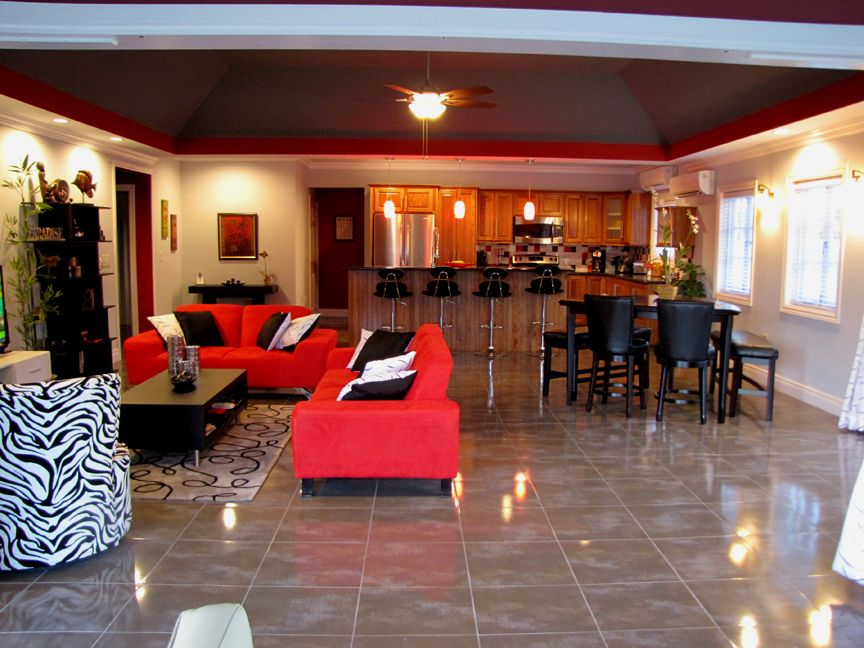The spacious patio can accommodate quite a few patrons at the Lake House in Lake  Villa
