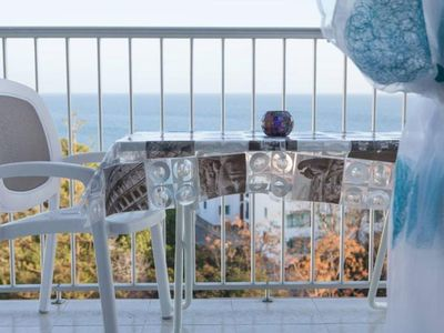Photo for Fantastic sea view and of the Balcon de Europa!