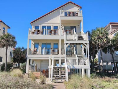 """Photo for Ready To Rent Now! FREE BEACH GEAR! Beachfront, Pets OK, Fireplace, Wi-Fi, 6BR/6.5BA """"Cool Change"""""""