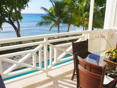 Photo for Luxury One Bedroom Beach Front Condo in Paynes Bay