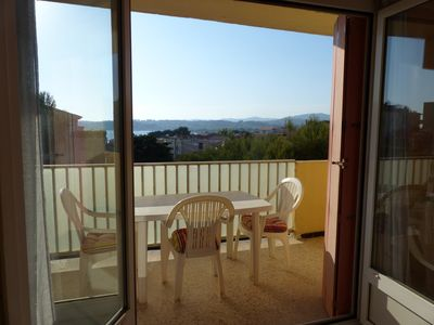 Photo for T3 of 65 m2- sea view terrace-200m from the beach-close to all amenities