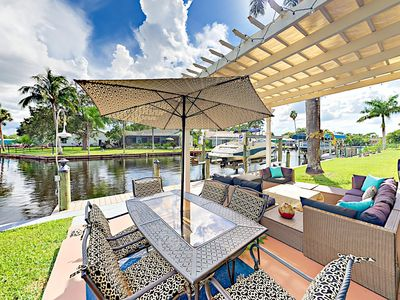 Photo for Canalfront 2BR/2BA in North Fort Myers w/ Spacious Screened Lanai & Fire Pit