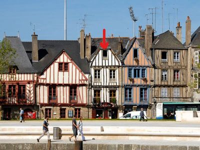 Photo for Right Bank Apartment, Direct View of the Port of Vannes.