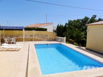 Photo for This 2-bedroom villa for up to 4 guests is located in Calpe and has a private swimming pool and air-