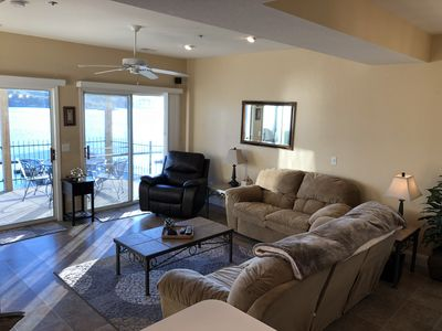 Photo for Amazing view! Convenient location, beautiful, 3BR, Lakefront Condo with 2 Pools