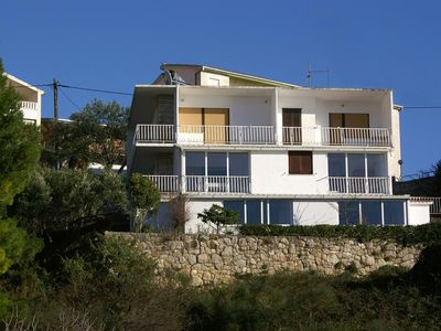Photo for One bedroom apartment with balcony and sea view Nemira, Omiš (A-2828-a)