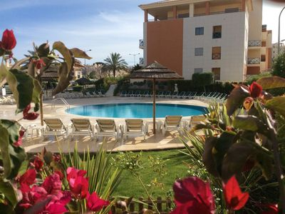 Photo for Modern Poolside, Ground-floor apartment in Corcovada Albufeira,  fab position