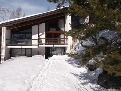 Photo for Great skiing to foot studio with terrace and fireplace