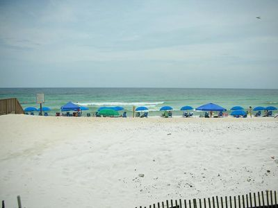 Photo for Beachfront! Great Gulf views! Free Beach Service! Easy access to beach and pool