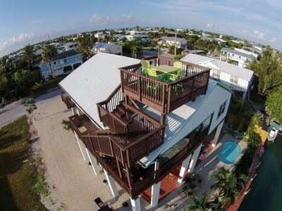 Photo for Gorgeous pool home with boating on Cudjoe Key