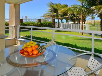 Photo for Beautiful Beachfront Apt. On the ground floor with 105 m2, 3 bedrooms 3 full baths, sleeps 7
