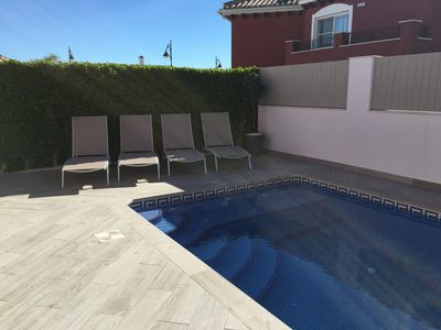 Photo for Stunning Villa, Newly Renovated. Private Pool in a Specious Terraced Area