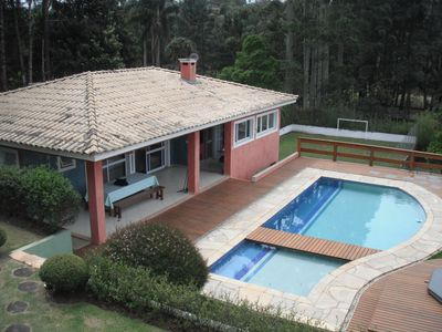 Photo for Chacara with pool, lake, house for children in the tree, near Sao Paulo