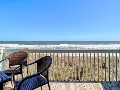 Photo for Oceanfront Condo with 2 decks! Enjoy the Indoor heated pool and outdoor pools