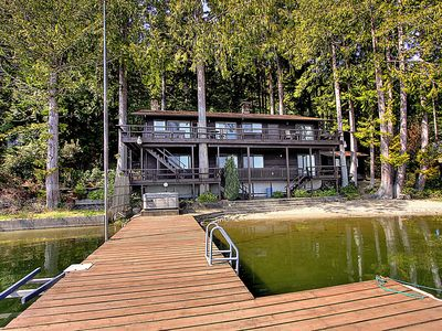 Photo for Picturesque Mason Lake Waterfront with Private Dock and Beach