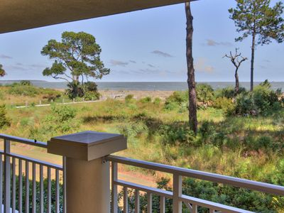 Photo for Lovely 3 BR Ocean Front Villa W/ Wrap-around Balconies pool; cart