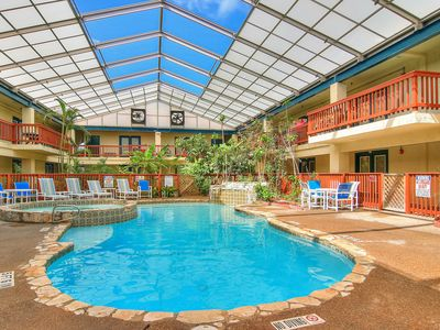 Photo for NEW LISTING! Comfortable condo w/shared indoor pool and hot tub