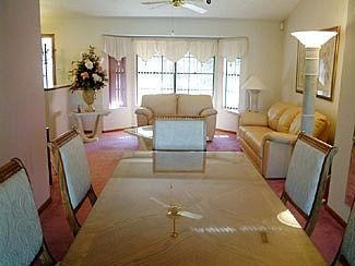Living Area and Dining Table