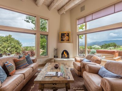Photo for Incredible views, hot tub, short drive to Plaza, grand living & outdoor space
