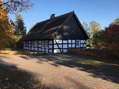 Photo for Timbered thatched roof Ahlbeck, ideal for children, tree house, 5000sqm plot