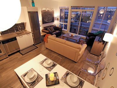 Photo for Downtown condo in best Victoria location: stunning views, parking & laundry