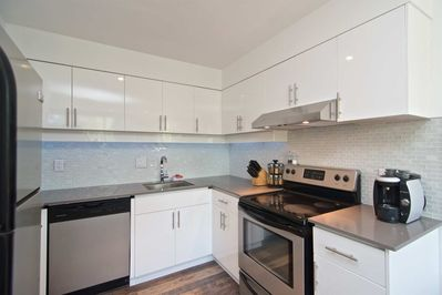 Lovely kitchen with stainless steel appliances