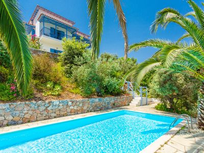 Photo for Villa Ourania: Large Private Pool, Sea Views, A/C, WiFi