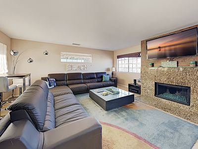 Photo for New Listing! Family Tides: Central Beach Retreat w/ Rooftop Balcony