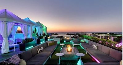 A fabulous place to view the bay from the rooftop of The Canopy located downtown