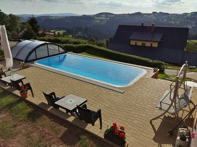 Photo for Holiday apartment with outdoor swimming pool and children's playground