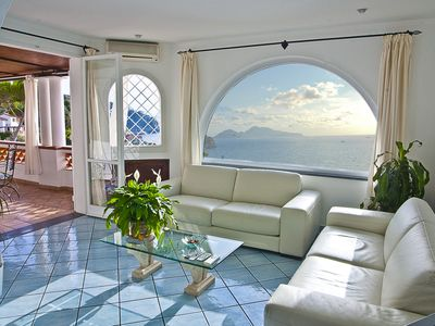 Photo for Villa Penelope spectacular dwelling on the sea with a view of Capri