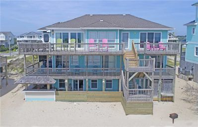 Photo for Beach Go-er's Paradise! Oceanfront Avon w/ Hot Tub, Tiki Bar, Game Rm, Cmty Pool