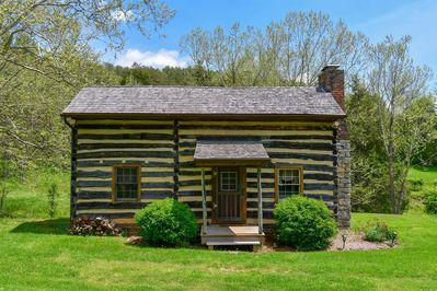 Cabin front (photo by High Standard Aerial Photography)