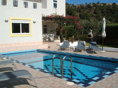 Photo for Lindos Destiny Luxury Villa Helios in Lardos private pool and walk to village!