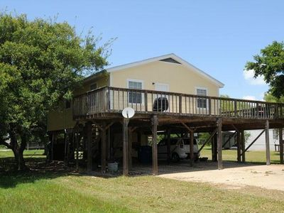 Photo for House on stilts, big wrap around deck for great coast breeze and bird watching