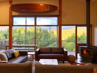 Photo for Surf Mountain Retreat - Relax on the deck spa after a long day of adventure!
