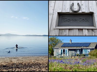 Photo for Beachfront holiday-home with unbeatable sea views on the tranquil Isle of Bute