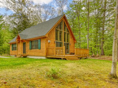 Photo for NEW LISTING! Peaceful 2012-built cabin w/ community beach access on Saco River!