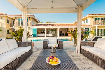 Relax in the poolside cabana for an afternoon drink or to enjoy the views.