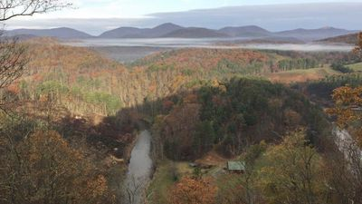 Photo for A four bed cabin, a million dollar view, outside Boone overlooking the New River