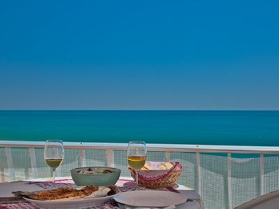 Photo for Beachfront Penthouse with Fabulous Sea View and Large Private Terrace - WiFi