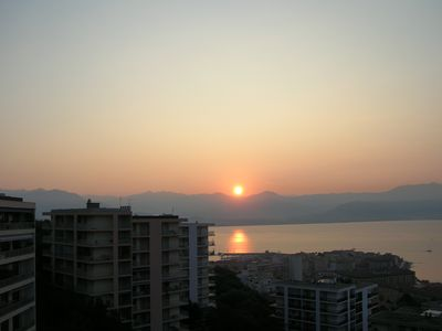 Photo for Beautiful apartment with a panoramic view on the Gulf of Ajaccio