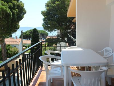 Photo for Bright apartment with seaviews at la Farella beach which is located a few meters in a quit