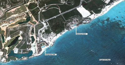 Image from Google Earth showing the Sotogrande buildings and the beach