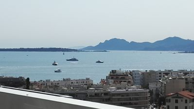 Photo for Antibes, panoramic sea view, south-west, pool, close to beaches, large terrace