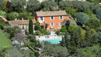 Photo for French Countryhouse from 1880 , Pool, Seeview walking distance oldtown Antibes