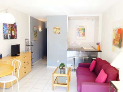 Photo for Apartment 1.1 km from the center of Cannes with Parking, Internet, Washing machine, Terrace (673552)