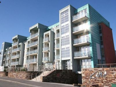 Photo for LOCATION 4 min walk to Fistral Beach Modern luxury apartment with sea view.